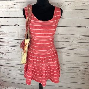 Max Edition Coral Striped Sun Dress size S